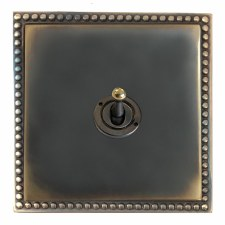 Regency Dolly Switch 1 Gang Dark Antique Relief