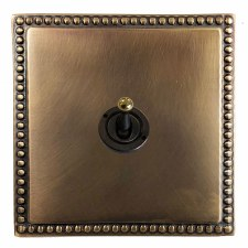 Regency Dolly Switch 1 Gang Hand Aged Brass