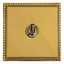 Regency Dolly Switch 1 Gang Polished Brass Lacquered