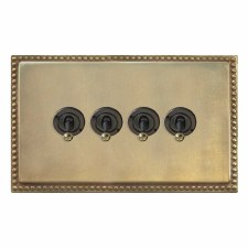 Regency Dolly Switch 4 Gang Antique Satin Brass