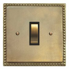 Regency Rocker Switch 1 Gang Antique Satin Brass
