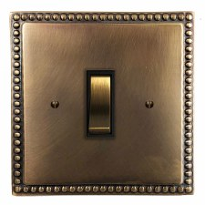 Regency Rocker Light Switch 1 Gang Hand Aged Brass