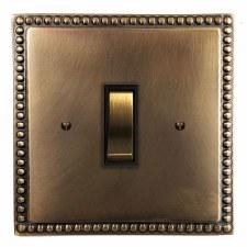 Regency Rocker Light Switch 1 Gang Hand Aged Brass
