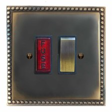 Regency Switched Fused Spur Illuminated Dark Antique Relief