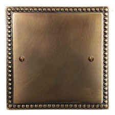 Regency Single Blank Plate Hand Aged Brass