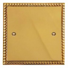 Regency Single Blank Plate Polished Brass Lacquered