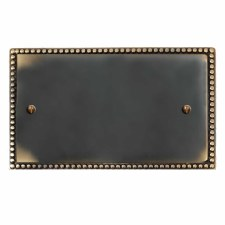 Regency Double Blank Plate Dark Antique Relief