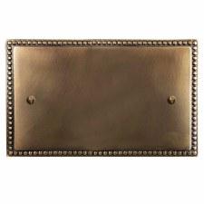 Regency Double Blank Plate Hand Aged Brass