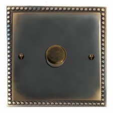 Regency Dimmer Switch 1 Gang Dark Antique Relief