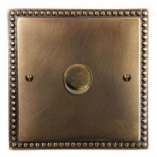Regency Dimmer Switch 1 Gang Hand Aged Brass