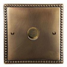 Regency Dimmer Switch 1 Gang Hand Aged Brass