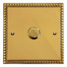 Regency Dimmer Switch 1 Gang Polished Brass Unlacquered