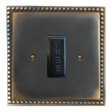 Regency Fused Spur Connection Unit 13 Amp Dark Antique Relief