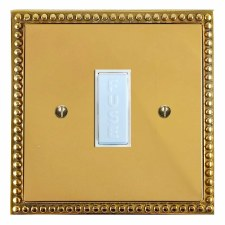 Regency Fused Spur Connection Unit 13 Amp Polished Brass Lacquered & White Trim