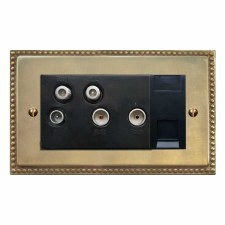 Regency Sky+ Socket Antique Satin Brass