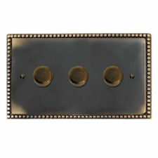 Regency Dimmer Switch 3 Gang Dark Antique Relief