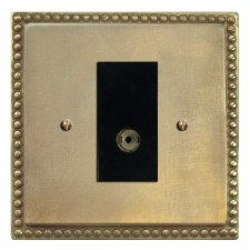 Regency TV Socket Outlet Antique Satin Brass