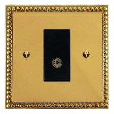 Regency TV Socket Outlet Polished Brass Unlacquered