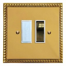 Regency Switched Fused Spur Polished Brass Lacquered & White Trim