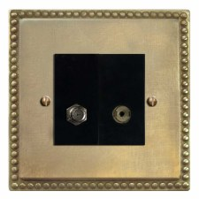 Regency Satellite & TV Socket Outlet Antique Satin Brass