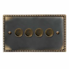 Regency Dimmer Switch 4 Gang Dark Antique Relief