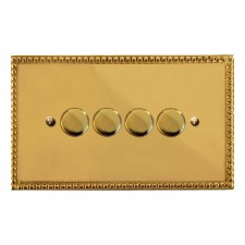 Regency Dimmer Switch 4 Gang Polished Brass Lacquered