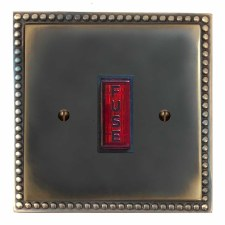 Regency Fused Spur Connection Unit Illuminated Indicator Dark Antique Relief