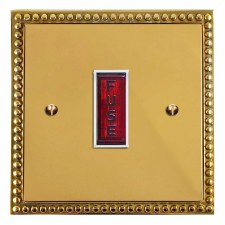 Regency Fused Spur Connection Unit Illuminated Indicator Polished Brass Lacquered & White Trim