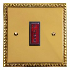 Regency Fused Spur Connection Unit Illuminated Indicator Polished Brass Lacquered & Black Trim