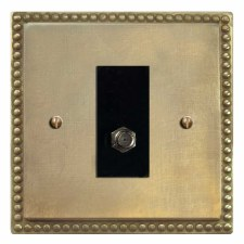 Regency Satellite Socket Antique Satin Brass
