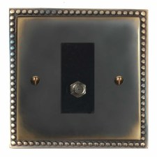 Regency Satellite Socket Dark Antique Relief
