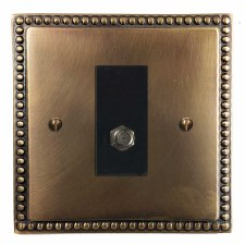 Regency Satellite Socket Hand Aged Brass