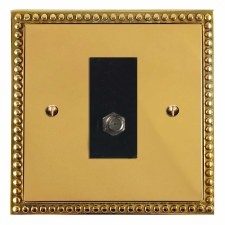 Regency Satellite Socket Polished Brass Unlacquered