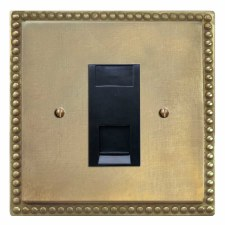 Regency RJ45 Socket CAT 5 Antique Satin Brass