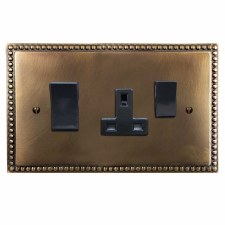Regency Socket & Cooker Switch Hand Aged Brass