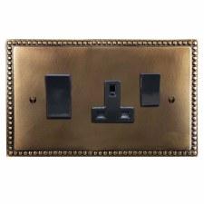 Regency Socket & Cooker Switch Hand Aged Brass