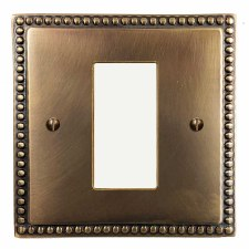 Regency Plate for Modular Electrical Components 50x25mm Hand Aged Brass
