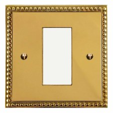 Regency Plate for Modular Electrical Components 50x25mm Polished Brass Unlacquered