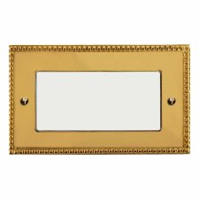 Regency Plate for Modular Electrical Components 50x100mm Polished Brass Unlacquered