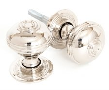 From The Anvil Prestbury 50mm Mortice/Rim Door Knobs Polished Nickel