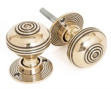 From The Anvil Prestbury 50mm Mortice or Rim Door Knobs Aged Brass
