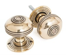 From The Anvil Prestbury 63mm Mortice or Rim Door Knobs Aged Brass