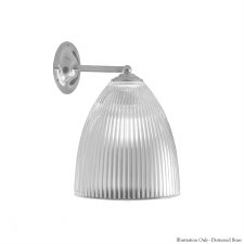 Prismatic Wall Light 343 - Distressed Brass