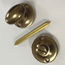 Aston Oval Thumb Turn & Release (Chubb)  Antique Brass