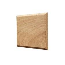 Oak Plinth for House Numbers profile Edge 1 Digit