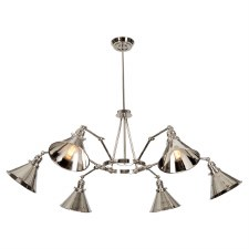 Elstead Provence 6 Arm Chandelier Polished Nickel
