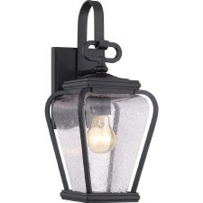 Quoizel Province Outdoor Wall Lantern Mystic Black