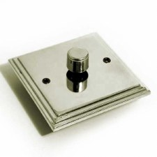 Edwardian Dimmer Switch 1 Gang Polished Nickel