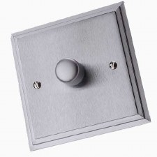 Edwardian Dimmer Switch 1 Gang Satin Chrome