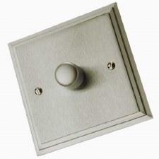 Edwardian Dimmer Switch 1 Gang Satin Nickel